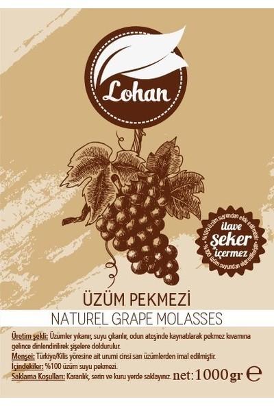 Lohan Taze Üzüm Pekmezi Ev Yapımı Doğal Şeker Içermez 1000 gr