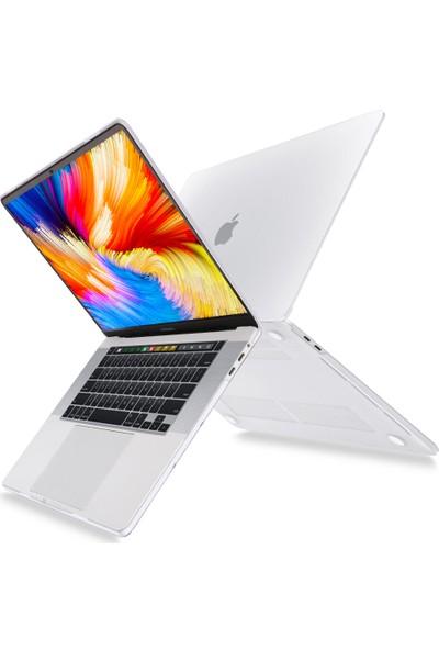 "Microcase Macbook Pro 16"" A2141 A2142 Shell Rubber Kapak Kılıf - Şeffaf"