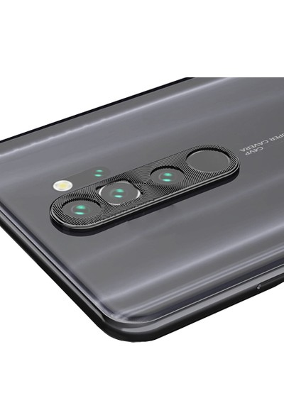 Microcase Xiaomi Redmi Note 8 Pro Kamera Lens Koruma Halkası - Siyah
