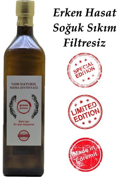Gross Goztepe Erken Hasat Soğuk Sıkım Zeytinyağı Filtresiz 1 l