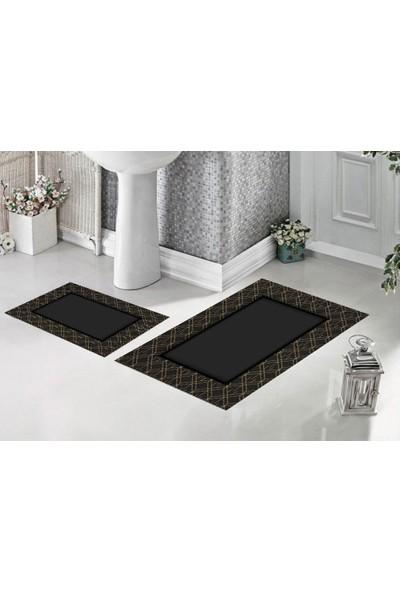 Aktunç İkili Banyo Paspası 60 x 96 cm ve 60 x 40 cm