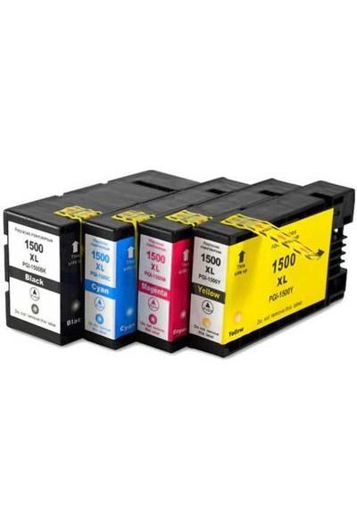 Bk Canon PGI-1500XL/MAXIFY MB2050/MB2150/MB2155/MB2350/MB2750/MB2755 4 Renk Set Kartuş