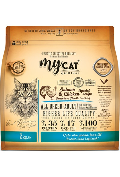 My Cat Tahılsız Somonlu & Tavuklu Kedi Maması 2 kg