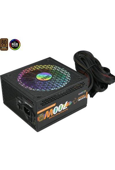 GameTech GTP-700 Full RGB 700W 80 Plus Bronze Power Supply PC Güç Kaynağı