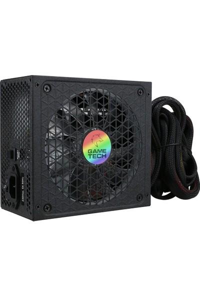 GameTech GTP-600 Full RGB 600W 80 Plus Bronze Power Supply PC Güç Kaynağı