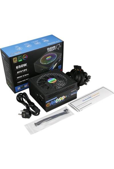GameTech GTP-650 Full RGB 650W 80 Plus Bronze Power Supply PC Güç Kaynağı