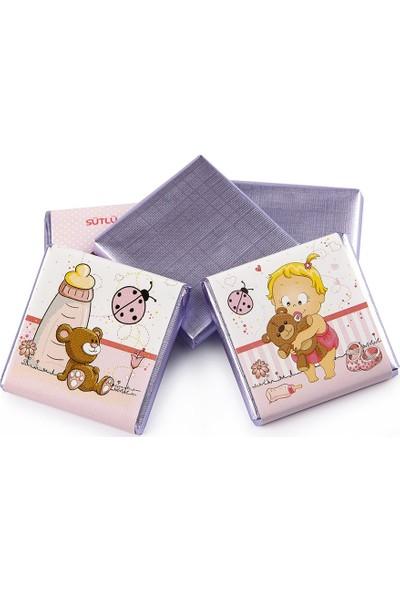 Melodi Çikolata Sargılı Sütlü Madlen Pembe 500gr - Kız Bebek Çikolatası