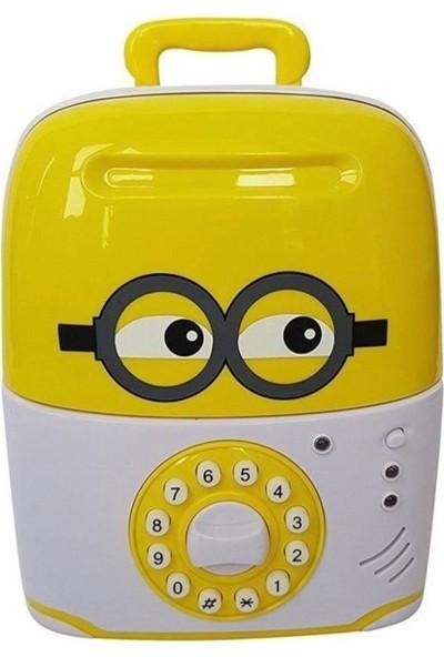 Maker Design Şifreli Valiz Mini Gözlüklü Kumbara