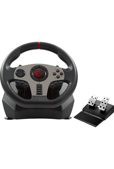 Rampage V900 PS3/PS4/PC/XBOX One/XBOX 360 6 in 1 Pedallı Oyuncu Direksiyon + Bloody Direksiyon Altlığı Pad