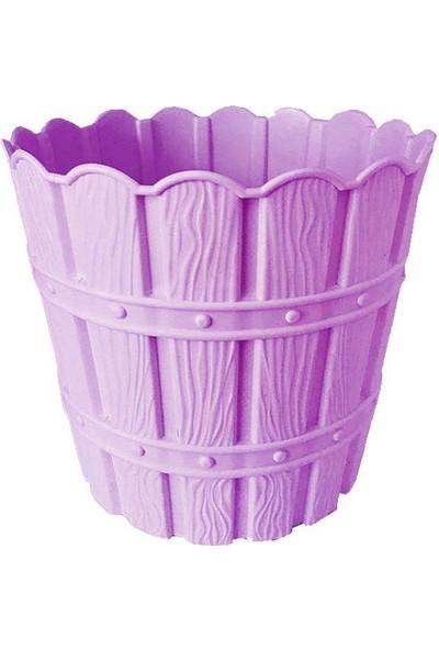 Barok Violet 1048 Lila Barok Bambu Desenli 7 lt Plastik Saksı