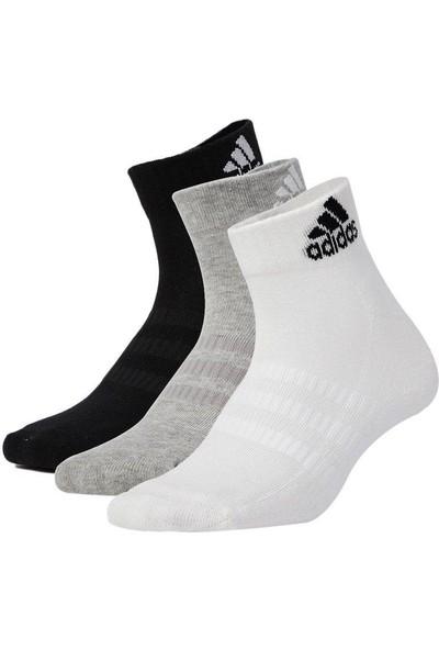 adidas Dz9364 Renkli 3 Çift Yastıklamalı Bilek Çocuk Çorap