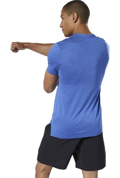 Reebok Dy7810 Mavi Erkek Tişört