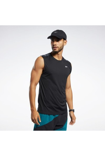 Reebok Fk6184 Workout Ready Tech Tee Erkek Siyah Kolsuz Tişört
