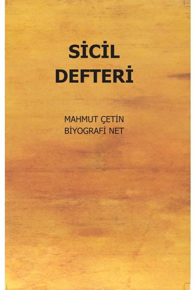 Sicil Defteri - Mahmut Çetin