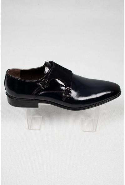 Deepsea Erkek Lacivert Çift Tokalı Klasik Rugan Deri Ayakkabı 2001047