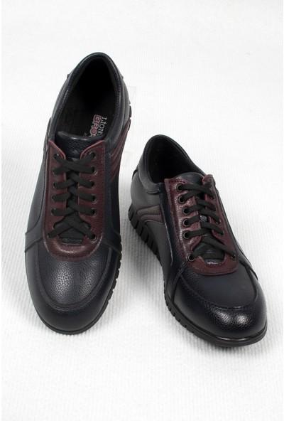 Deepsea Erkek Koyu Lacivert Yan Nubuk Şeritli Deri Ayakkabı 2006410