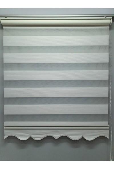 BBB Mikro Pliseli Stor Zebra Perde Beyaz MZ483