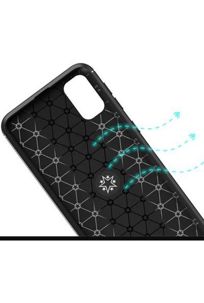 Coverzone Samsung Galaxy A51 Novel Kılıf Silikon Kılıf Siyah - Mavi