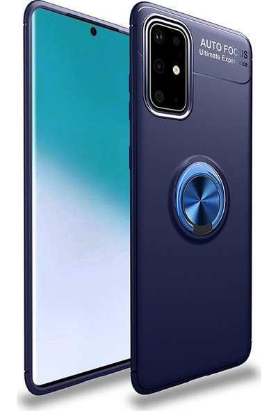 Coverzone Samsung Galaxy A71 Novel Kılıf Silikon Kılıf Lacivert