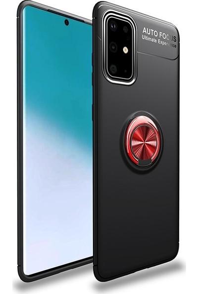 Coverzone Samsung Galaxy A71 Novel Kılıf Silikon Kılıf Siyah - Kırmızı