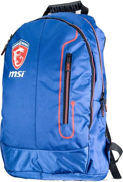 """MSI Notebook Sırt Çantası Oyuncu 17"""" Mavi"""