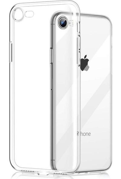 Ygt Apple iPhone 7/8 Plus Ultra İnce Şeffaf Kılıf Tıpalı Silikon
