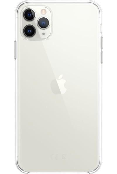 Ygt Apple iPhone 11 Pro Max Ultra İnce Şeffaf Kılıf Tıpalı Silikon