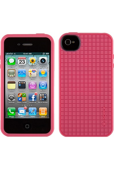 Speck Apple iPhone 4S/4 Speck PixelSkin HD Silikon Kılıf Pembe