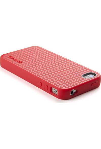 Speck Apple iPhone 4S/4 Speck PixelSkin HD Silikon Kılıf Kırmızı