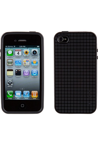 Speck Apple iPhone 4S/4 Speck PixelSkin HD Silikon Kılıf Siyah
