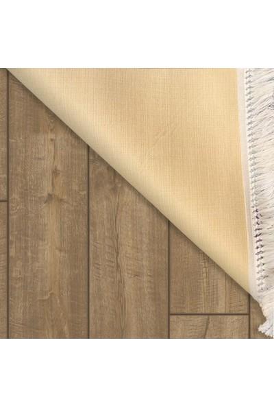 Decovilla Ritim Model Kaymaz Taban Yıkanabilir Saçaklı Halı 80 x 150cm