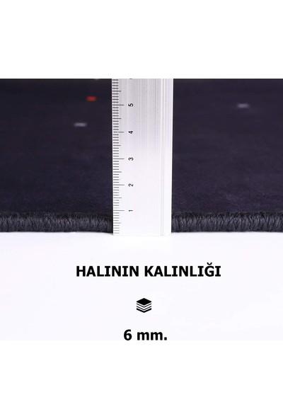 Decovilla Beste Model Kaymaz Taban Yıkanabilir Saçaklı Halı 80 x 150cm
