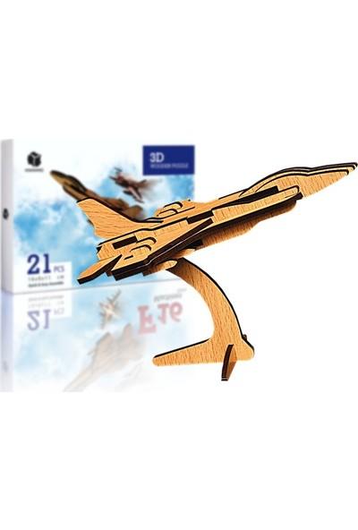 Pershang F16 Uçağı 21 Parça Ahşap 3D Puzzle