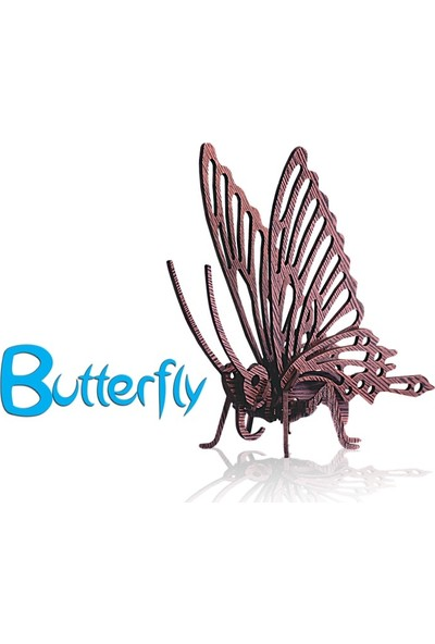Pershang Kelebek 22 Parça Ahşap 3D Puzzle