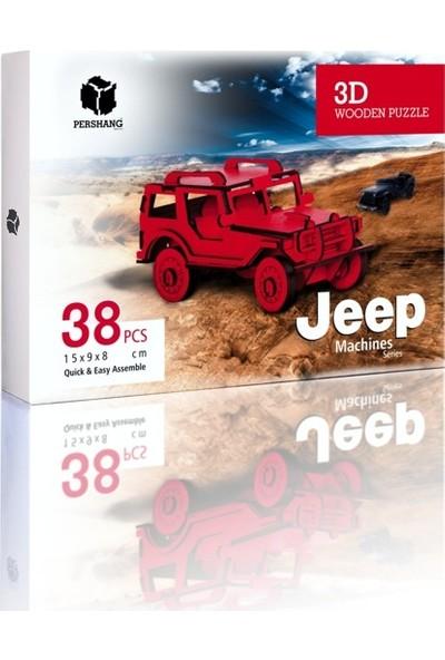 Pershang Jeep 64 Parça Ahşap 3D Puzzle