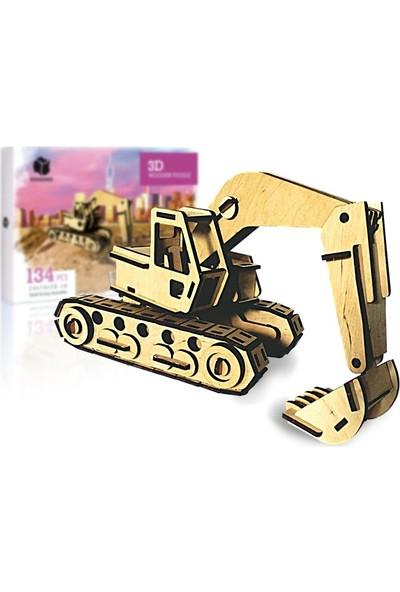 Pershang Ekskavatör 134 Parça Ahşap 3D Puzzle