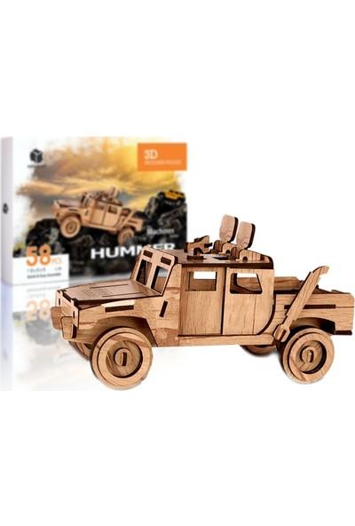Pershang Hummer Araba 58 Parça Ahşap 3D Puzzle