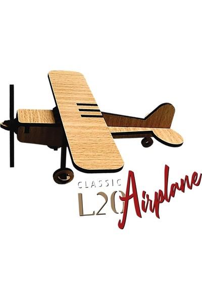 Pershang Tek Bale Uçağı L20 14 Parça Ahşap 3D Puzzle