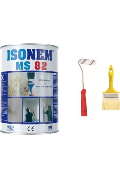 Isonem Ms 82 Nem Rutubet Boyası 5 kg Epoksi Rulo + Kestirme Fırça