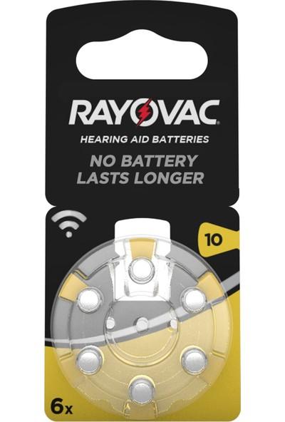 Rayovac 10 Numara Işitme Cihazı Pili 5 Li Paket (30 Adet)