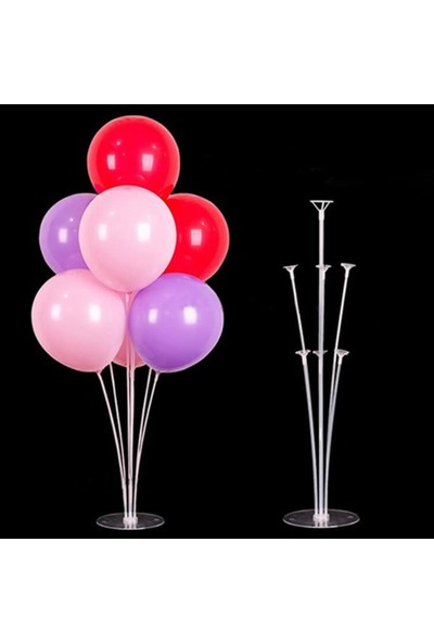 Layda Süs Balon Standı 7 Çubuklu Set