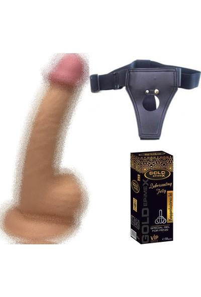 Dr. Love 20 cm Gerçekçi Vantuzlu Realistik Penis Anal Vajinal Dildo Strapon