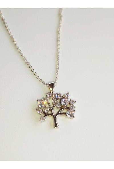 Fashion Jewellery Zirkon Kadın Hayat Ağacı Kolye