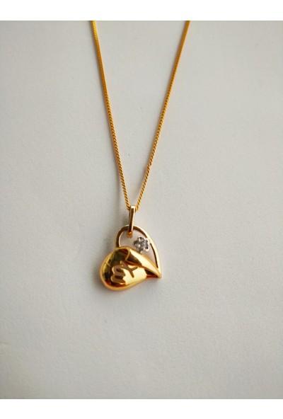 Fashion Jewellery Altın Kaplama Kadın Kalp Kolye