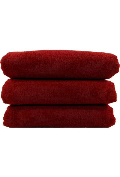Bol Ticaret Tekstil Kırmızı Kuaför Havlusu, Boya Tutmayan 50 x 90 cm 12 Adet