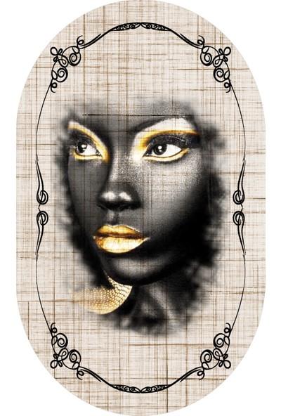Soley Dod Süngerli Oval Halı 60 x 100 cm Dzbk