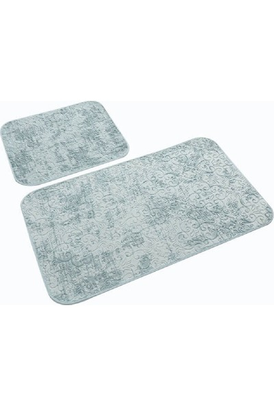 Soley Avangard 2'li Banyo Paspas Takımı Deren Mint 50 x 60 cm 60 x 100 cm