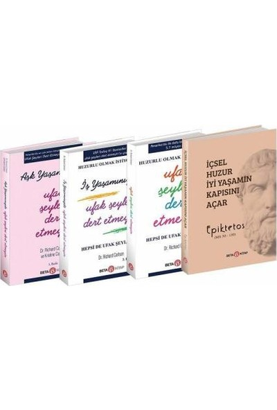 Huzurveren Kitaplar Serisi 4 Kitap - Richard Carlson