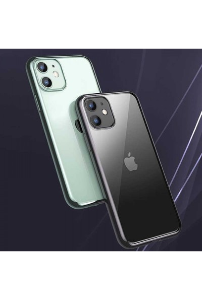 Mkorayavm Apple iPhone 11 Benks Magic Glitz Ultra Transparan Soft Kılıf Yeşil