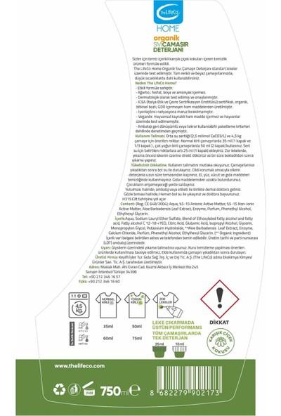 The Lifeco Home Organik Sıvı Çamaşır Deterjanı 750 ml